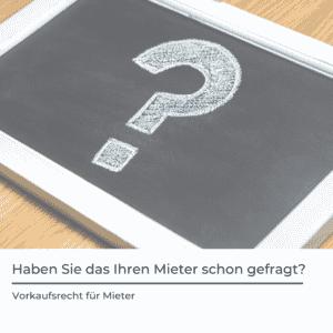Vorkaufsrecht für Mieter Rosenheim